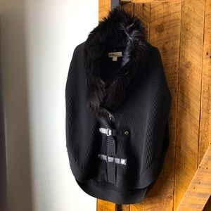 Michael Kors cape with faux fur. Worn only once.